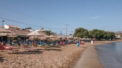Strandliv i Kalyves